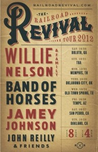 Willie Nelson, Jamey Johnson, Band of Horses on the Railroad Revival Tour