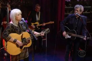 Watch Out! Emmylou Harris & Rodney Crowell perform Dreaming My Dreams on David Letterman 2-25-13 [VIDEO]