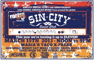 The Sin City Social Club Annual SXSW 2013 Bash