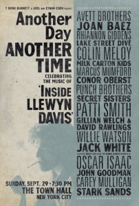 Another Time, Another Place: Celebrating the music of Inside Llewyn Davis benefit concert 9/29/13 [VIDEOS]