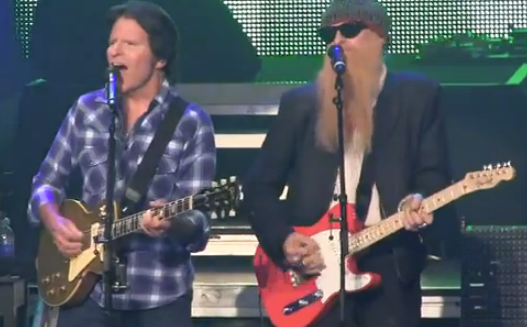 Billy Gibbons joined John Fogerty on stage