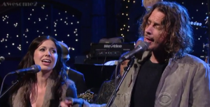 "Watch Out! Chris Cornell and Joy Williams  ""Misery Chain"" on David Letterman"
