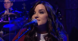 "Watch Out! – Brandy Clark – ""Stripes"" – David Letterman 1-6-14"