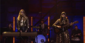 "Watch Out! First Aid Kit Perform ""Stay Gold"" on Conan 11/11/14"