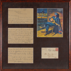 Jimmie Rodgers 'The Father of Country Music' Collection up for auction