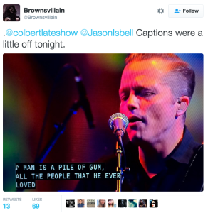 Watch Out:  Jason Isbell and the 400 Unit Performs 'If It Takes A Lifetime' on The Late Show