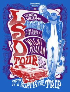Lucinda Williams, Steve Earle, Dwight Yoakam Announce Summer 'LSD Tour'