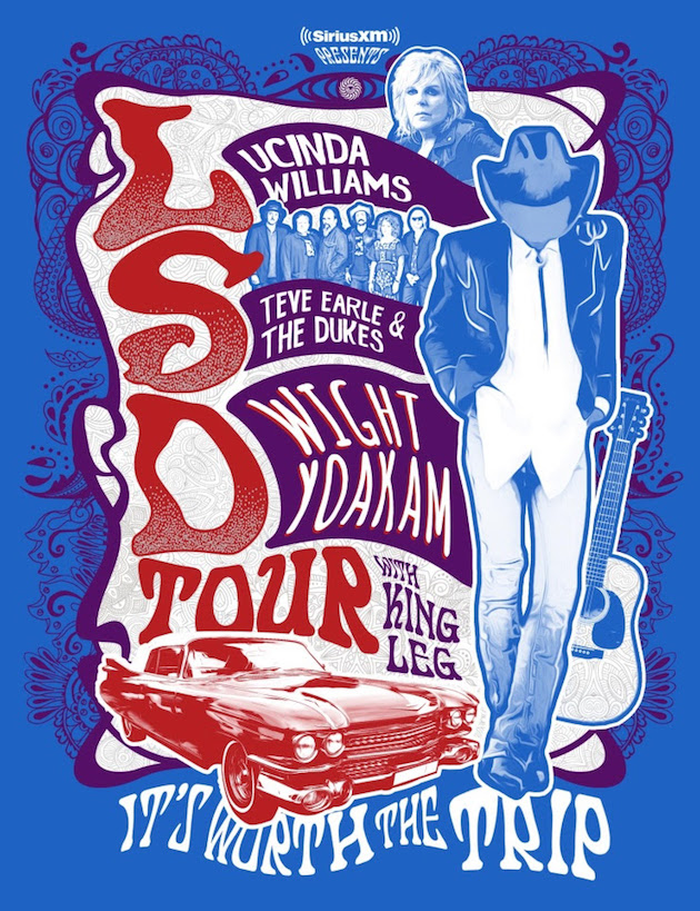 Lucinda Williams, Steve Earle and Dwight Yoakam - LSD Tour