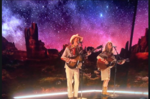 "Watch Out! Gillian Welch and David Rawlings Sing ""When a Cowboy Trades His Spurs for Wings"" Oscars 2019"